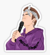 Justin Bieber Purple Sticker