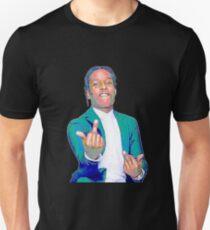 A$AP ROCKY w/ Middle Fingers Up Unisex T-Shirt