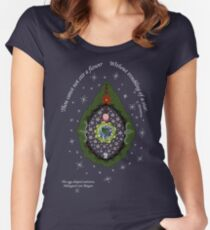 The egg-shaped universe Women's Fitted Scoop T-Shirt