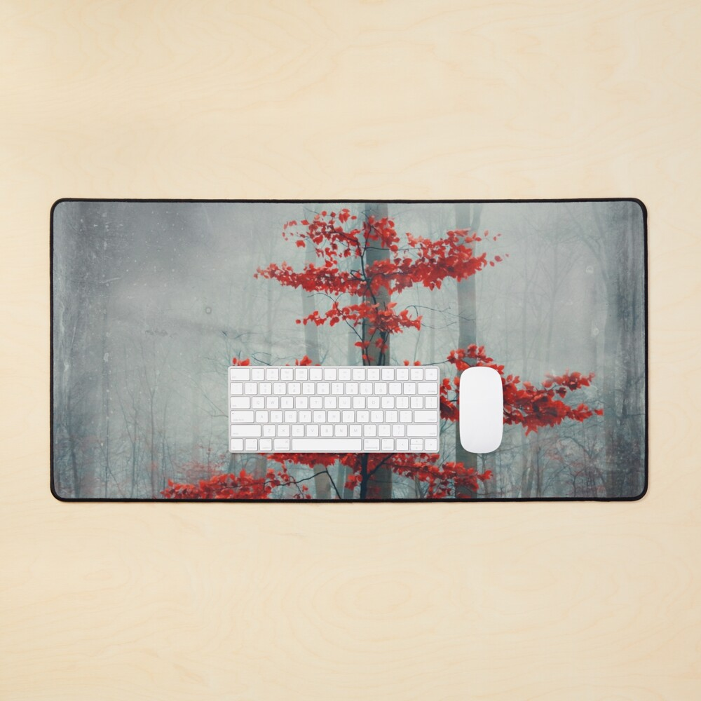 Wonder Tree - Small Beech Tree with Red Fall Foliage Mouse Pad