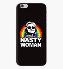 Hillary Clinton Nasty Woman Rainbow iPhone Case