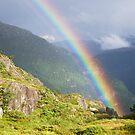 Rainbow in Vossafjella by Algot Kristoffer Peterson