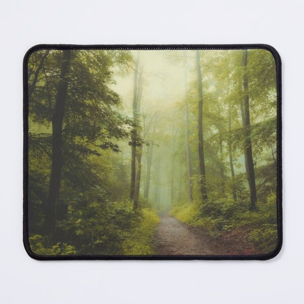 Long Forest Walk Mouse Pad