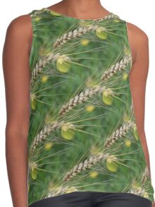 Dried Tall Grass Nature Pattern Contrast Tank