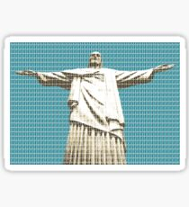 Christ The Redeemer - Dark Blue Sticker