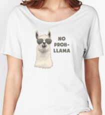 No Problem Llama Women's Relaxed Fit T-Shirt