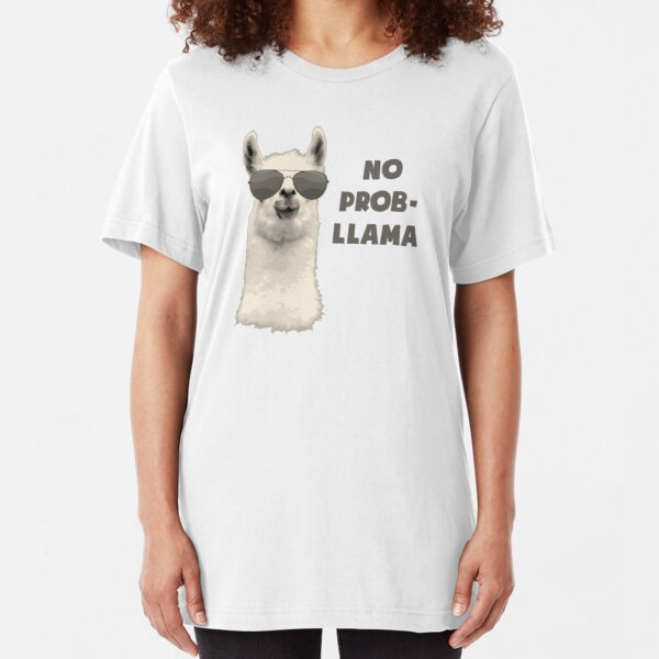 No Problem Llama Slim Fit T-Shirt