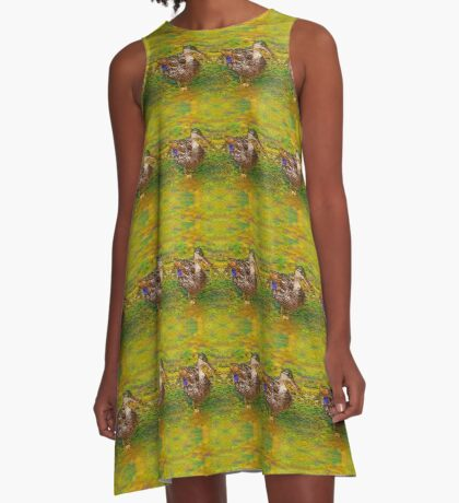 Ducks In A Row A-Line Dress