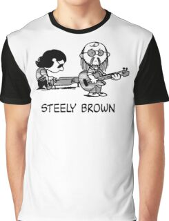 Steely Brown Graphic T-Shirt