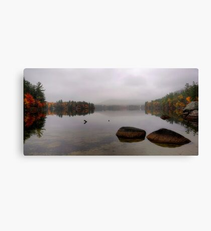Bear Pond - Autumn Reflection in the Morning Fog Canvas Print