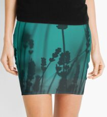 Lavender Silhouette Mini Skirt