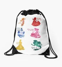 Princesses - Castle Drawstring Bag