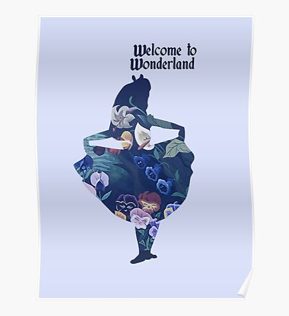 Welcome to Wonderland - Blue Poster