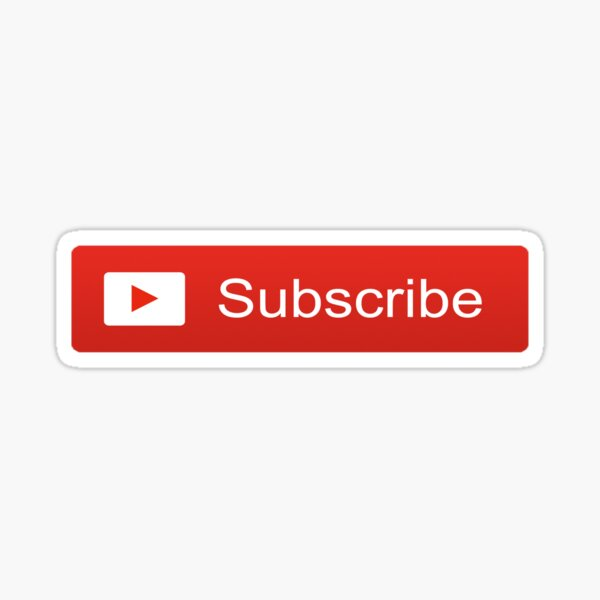 YouTube Subscribe Button Sticker
