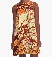 Coppertone Branches A-Line Dress