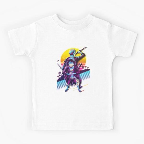 Monkey D. Luffy And Roronoa Zoro Straw Hat Pirates Kids T-Shirt