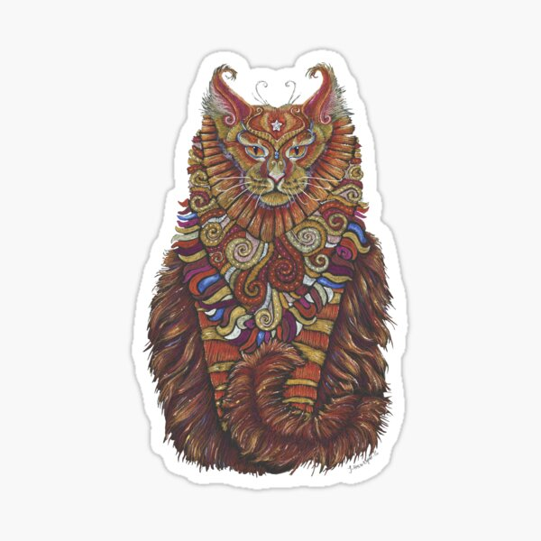 Maine Coon Cat Totem Sticker