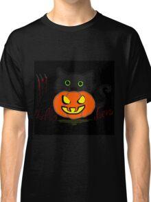 Pumpkin Cat - Halloween Time Classic T-Shirt