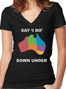 Joshua Sasse - Official Say 'I Do' Down Under Shirt Women's Fitted V-Neck T-Shirt