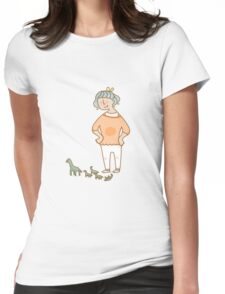 don't wander off Womens Fitted T-Shirt