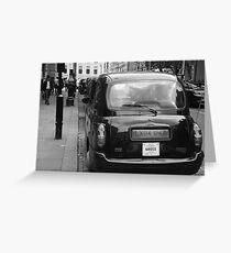 Black cabs at Marylebone Station Greeting Card