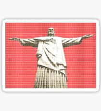 Christ the Redeemer - Red Sticker