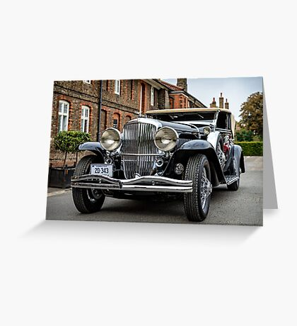 Clifford Botway's 1936 Duesenberg Model J Rollston Victoria Coupe  Greeting Card