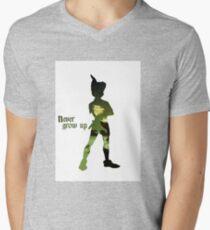 Never Grow Up Mens V-Neck T-Shirt