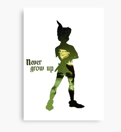Never Grow Up Canvas Print