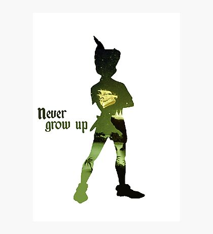 Never Grow Up Photographic Print