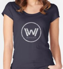 Westworld - everything can happen (rusted version) Women's Fitted Scoop T-Shirt