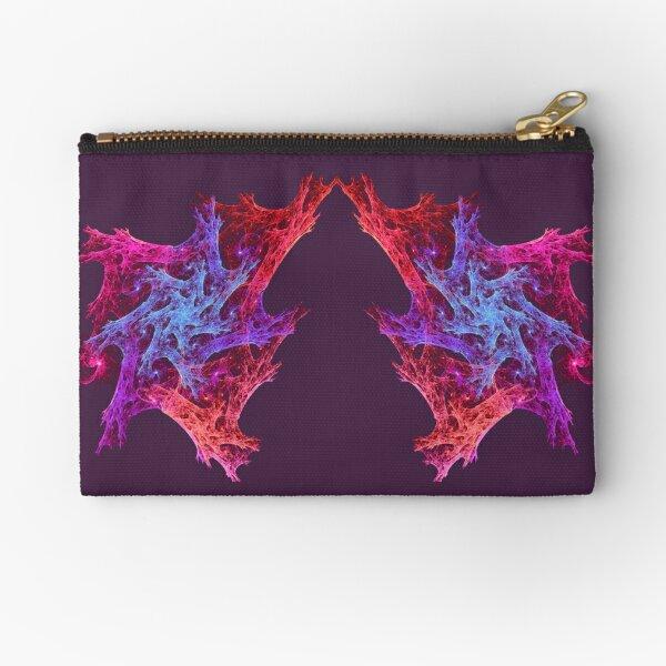 Heart chaos #fractal art Zipper Pouch