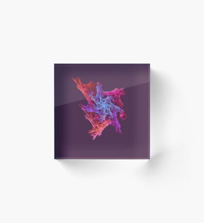 Heart chaos #fractal art Acrylic Block