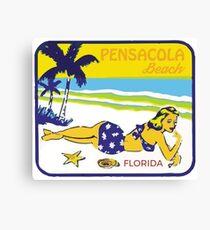 Retro Pensacola Beach Canvas Print