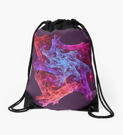 Heart chaos #fractal art Drawstring Bag