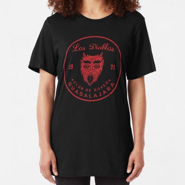 Los Diablos Club de Boxeo - distressed design Slim Fit T-Shirt