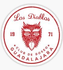 Los Diablos Club de Boxeo - distressed design Sticker