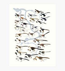Dromaeosaurid Dinosaurs (version 1) Art Print