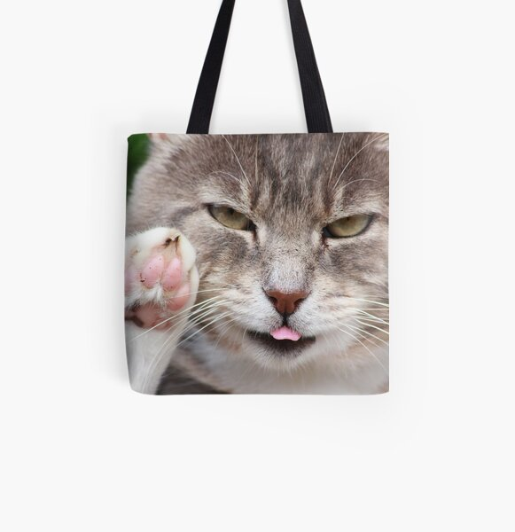 Talk to the paw All Over Print Tote Bag