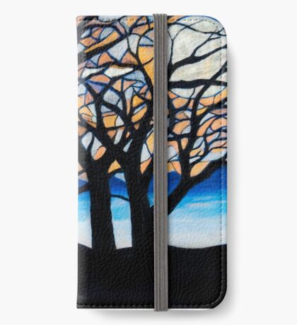 Stained Glass Trees iPhone Wallet