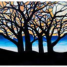 Stained Glass Trees by Tabetha Landt