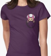 Pocket Toadette Women's Fitted T-Shirt