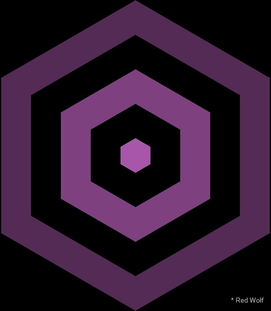 Geometric Pattern: Hexagon Hive: Dark Positive: Purple by * Red Wolf