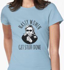 Hillary Clinton Nasty Women Get Stuff Done Womens Fitted T-Shirt