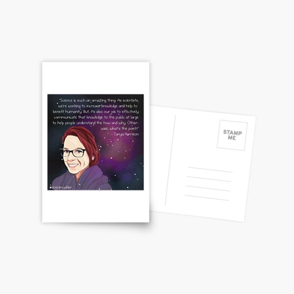 #SciComm100: Tanya Harrison Postcard