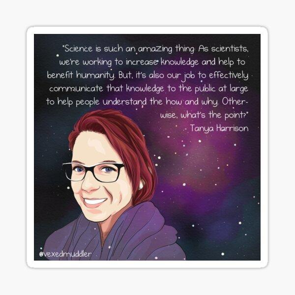 #SciComm100: Tanya Harrison Sticker