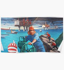Maelstrom Mural - Construction Worker Poster