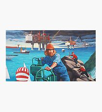 Maelstrom Mural - Construction Worker Photographic Print