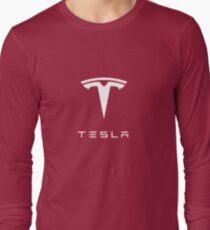 Tesla Logo Merchandise Long Sleeve T-Shirt
