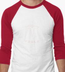 Tesla Logo Merchandise Men's Baseball ¾ T-Shirt